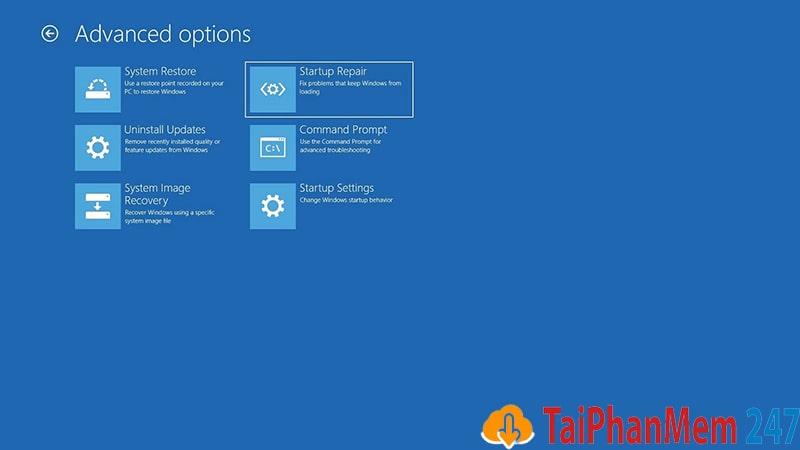 Fix lỗi màn hình xanh bằng chế độ tự động sửa lỗi