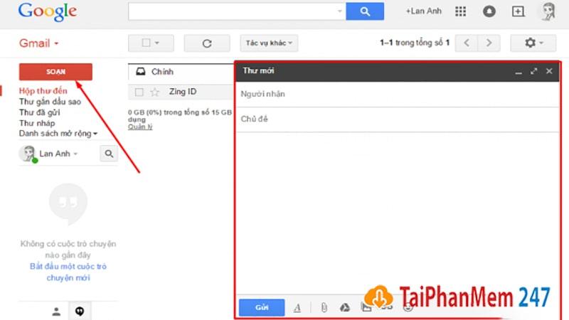 Gửi thư trong gmail 1