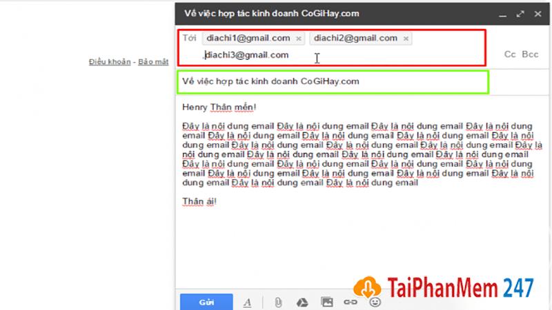 Gửi thư trong gmail 2