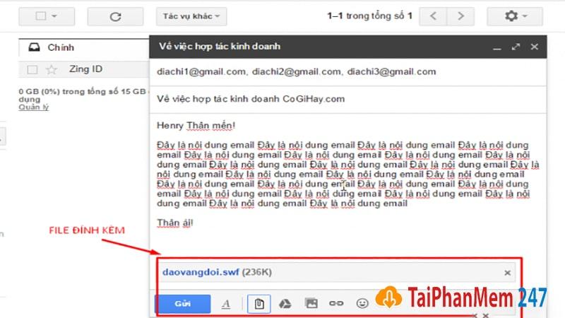 Gửi thư trong gmail 4