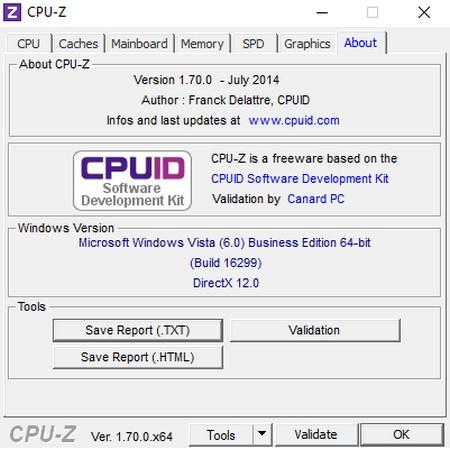 Kiểm tra cấu hình máy tính bằng CPU-Z About
