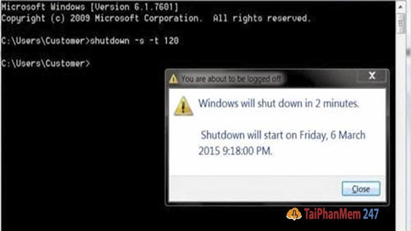 hẹn giờ tắt máy tính bằng Command Prompt 2