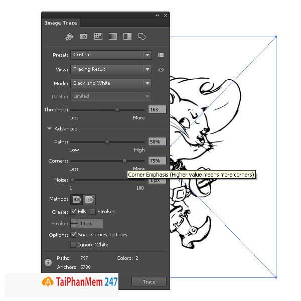 Tính năng Image Trace trong Illustrator CS6