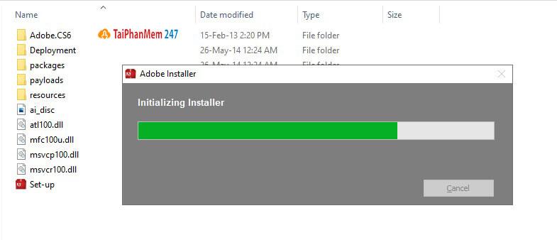 Bước 3 chờ cài đặt Adobe Illustrator CS6 Full