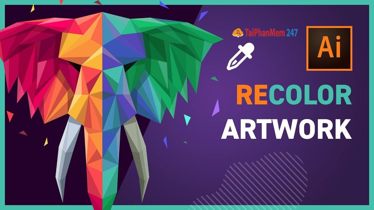Tính năng Recolor Artwork khi tải Adobe Illustrator CC 2021