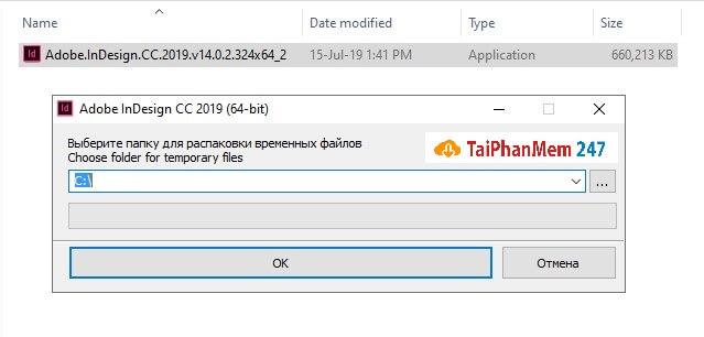 Bước 3: chạy file Adobe Indesign CC 2019