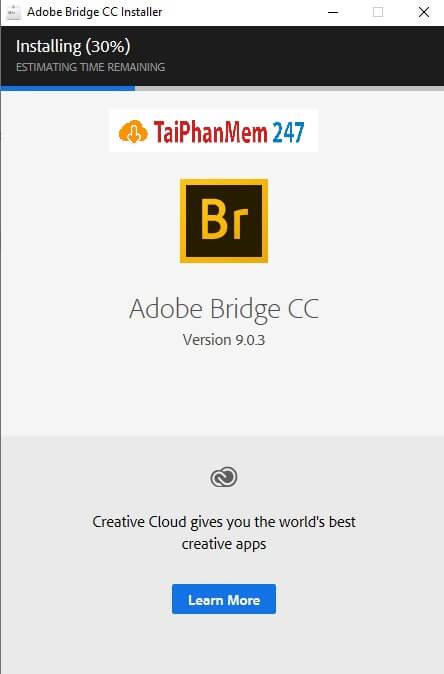 Bước 5: Hoàn tất cài đặt Adobe Bridge CC 2019
